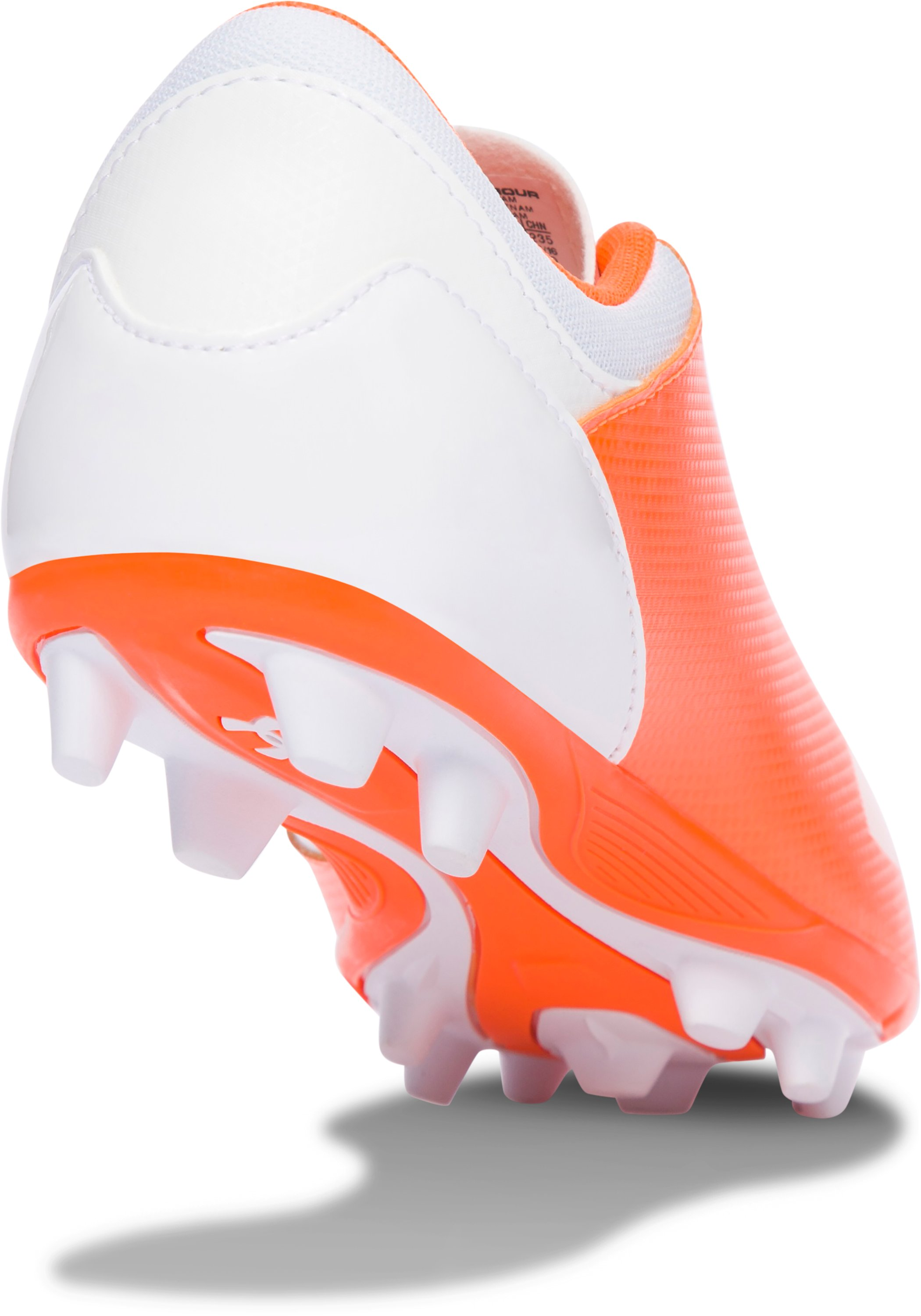 Girls' UA Spotlight DL FG-R Jr. Soccer Cleats, Blaze Orange, undefined