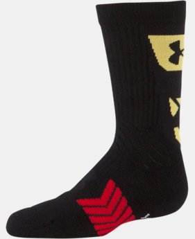 Boys' UA Undeniable MD Flag Crew Socks