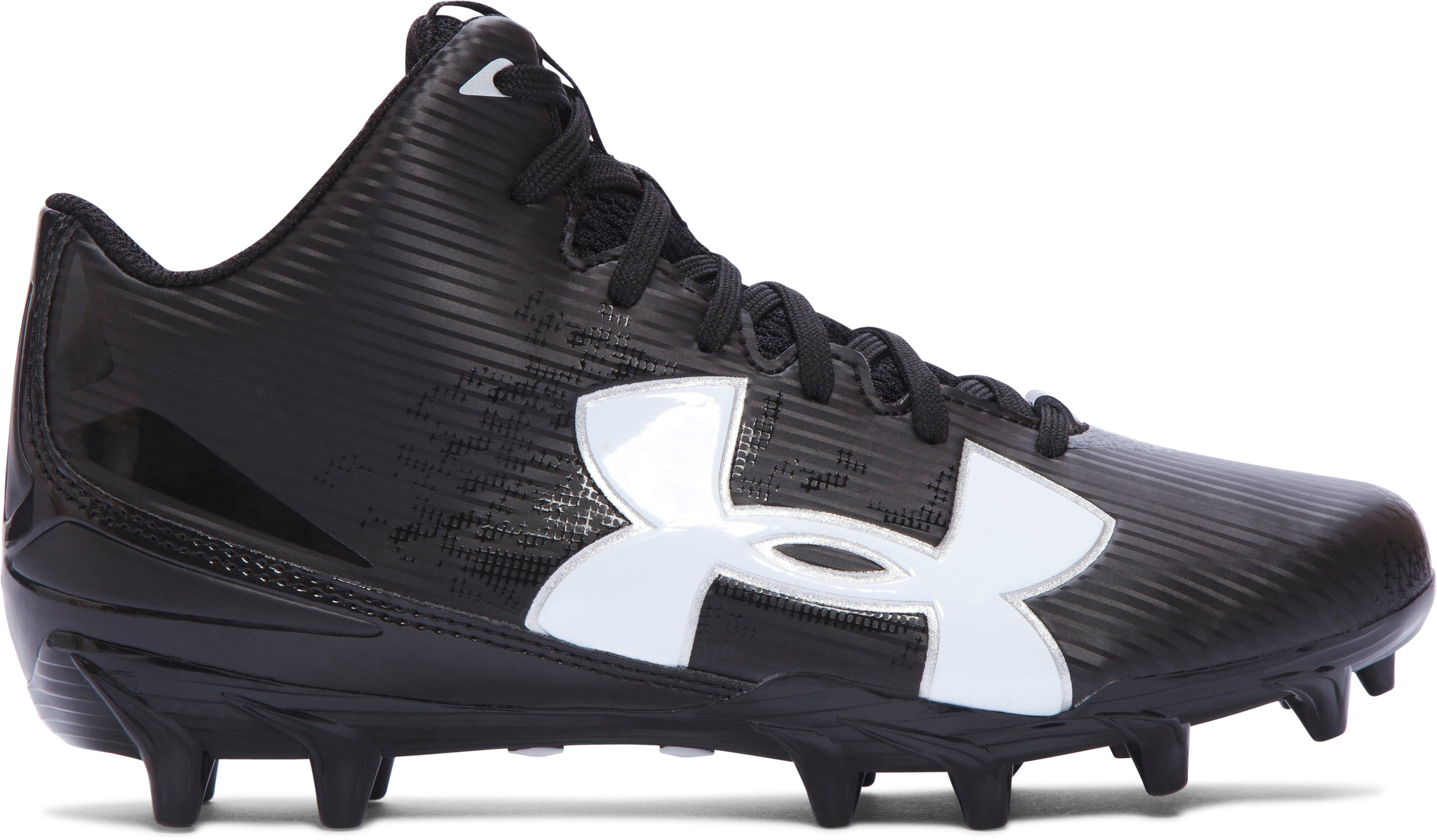Boys' UA Fierce Phantom Mid MC Jr. Football Cleats, Black