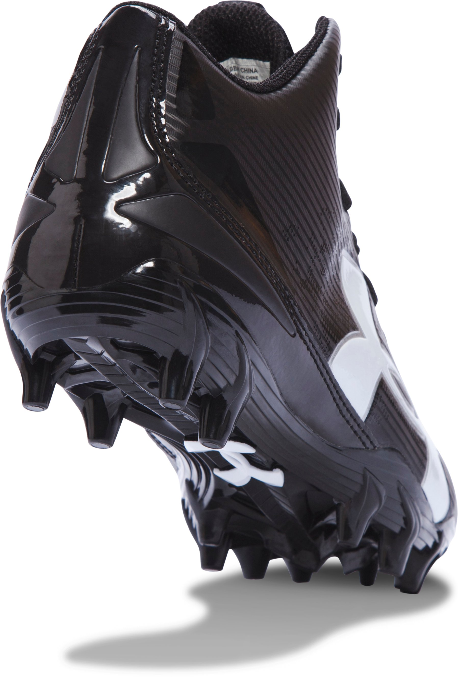 Boys' UA Fierce Phantom Mid MC Jr. Football Cleats, Black , undefined