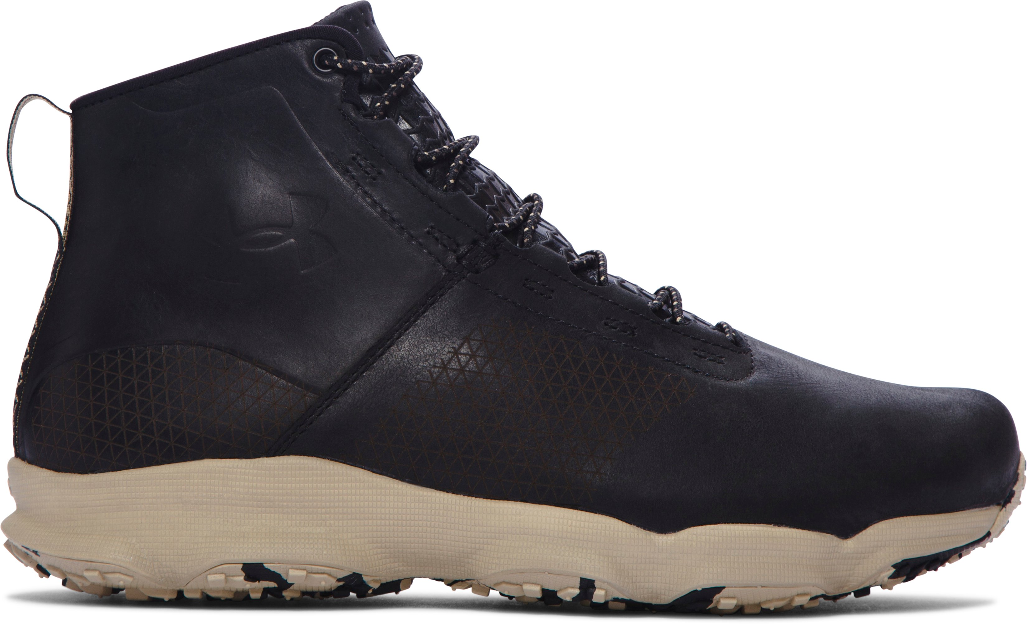 black leather boots Men's UA SpeedFit Hike Leather Boots great shoes...Arch support too high!...Look very good as well.