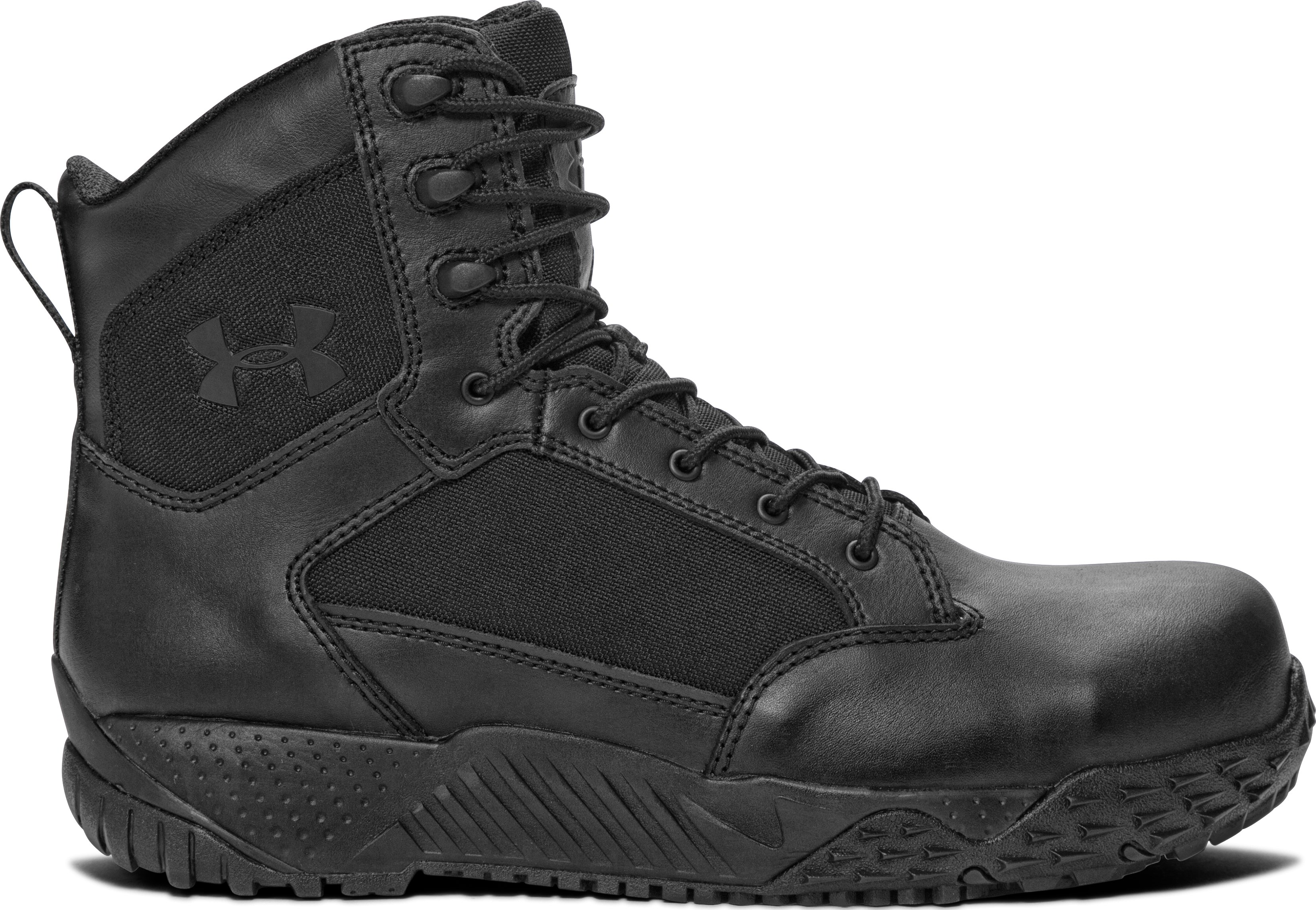 Men's UA Stellar Protect Tactical Boots, Black , zoomed image
