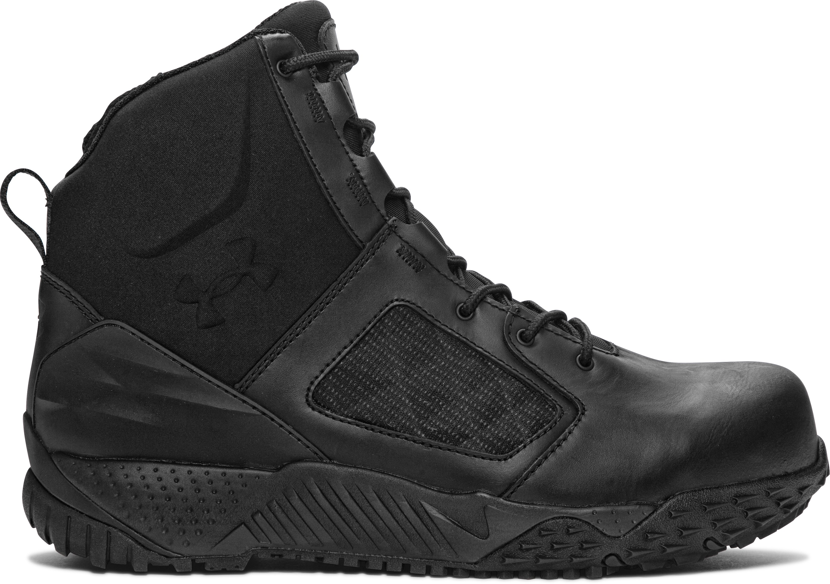 Men's UA Zip 2.0 Protect Tactical Boots, Black , zoomed image
