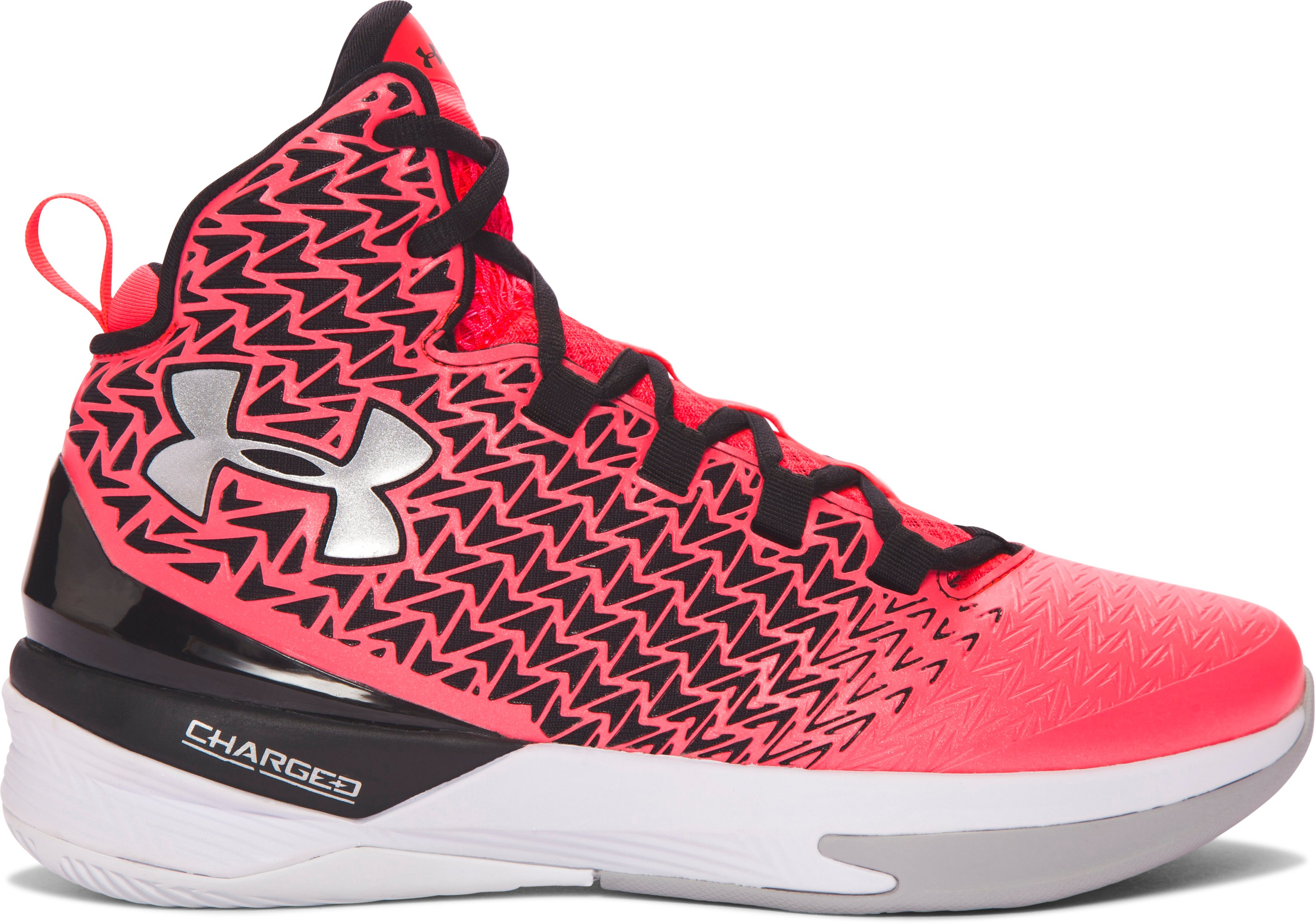 Women's UA ClutchFit® Drive 3 Basketball Shoes, PINK CHROMA, undefined