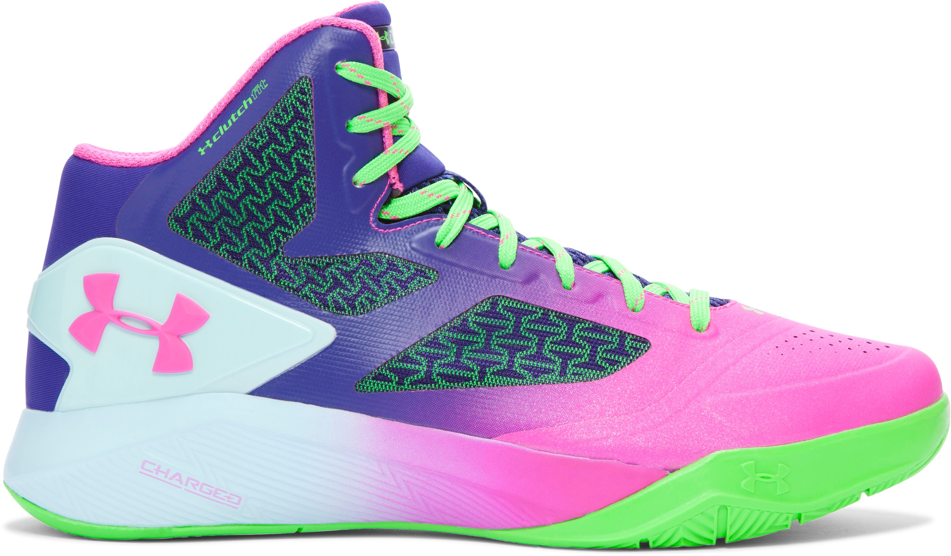 Men's UA ClutchFit™ Drive II Basketball Shoes – Elite 24 Edition, Neo Pulse, zoomed image