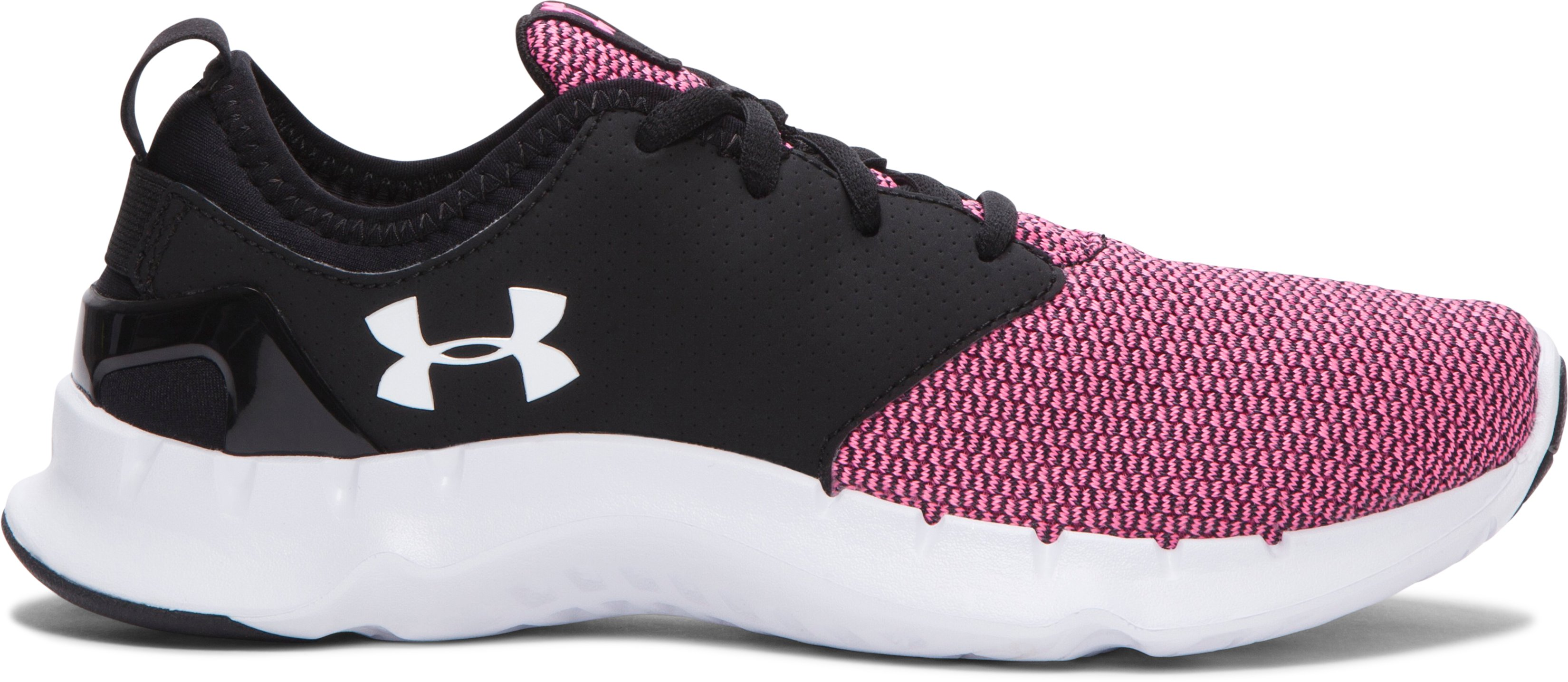 Women's UA Flow Solid Running Shoes, MOJO PINK,