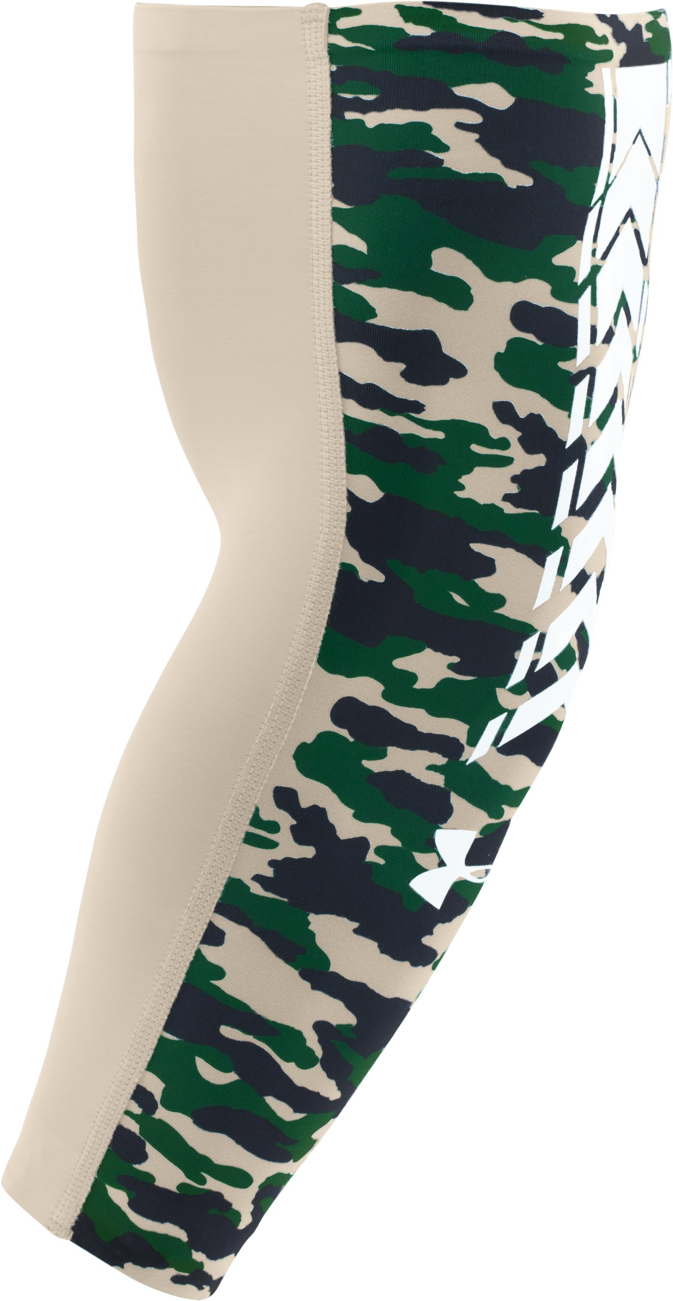 Men's UA Team Camo Baseball Sleeve, Sandstorm,