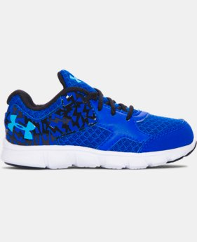 New Arrival Boys' Infant UA Thrill Running Shoes   $35.99
