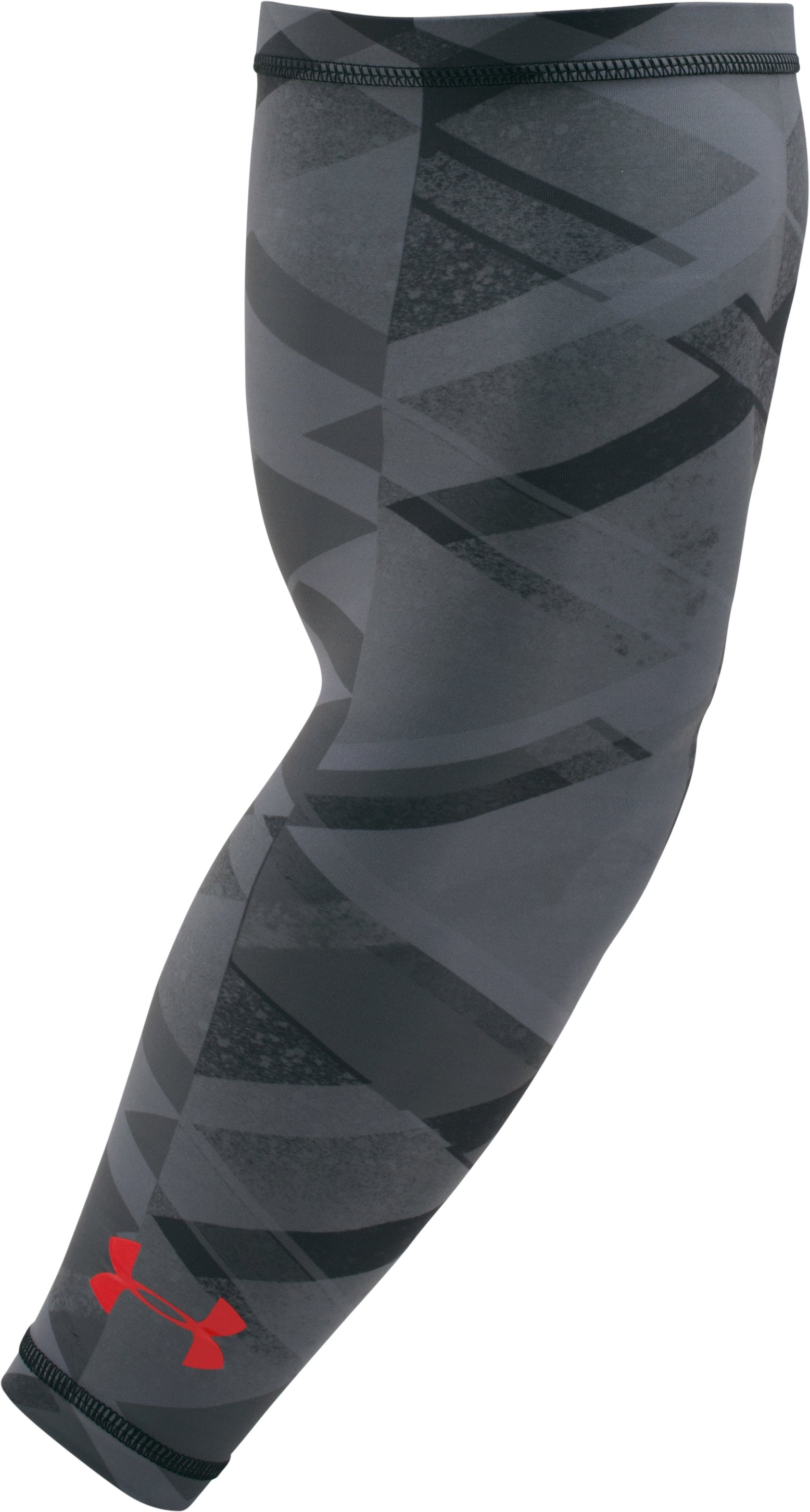 Men's UA Graphic HeatGear® Arm Sleeve, Black ,