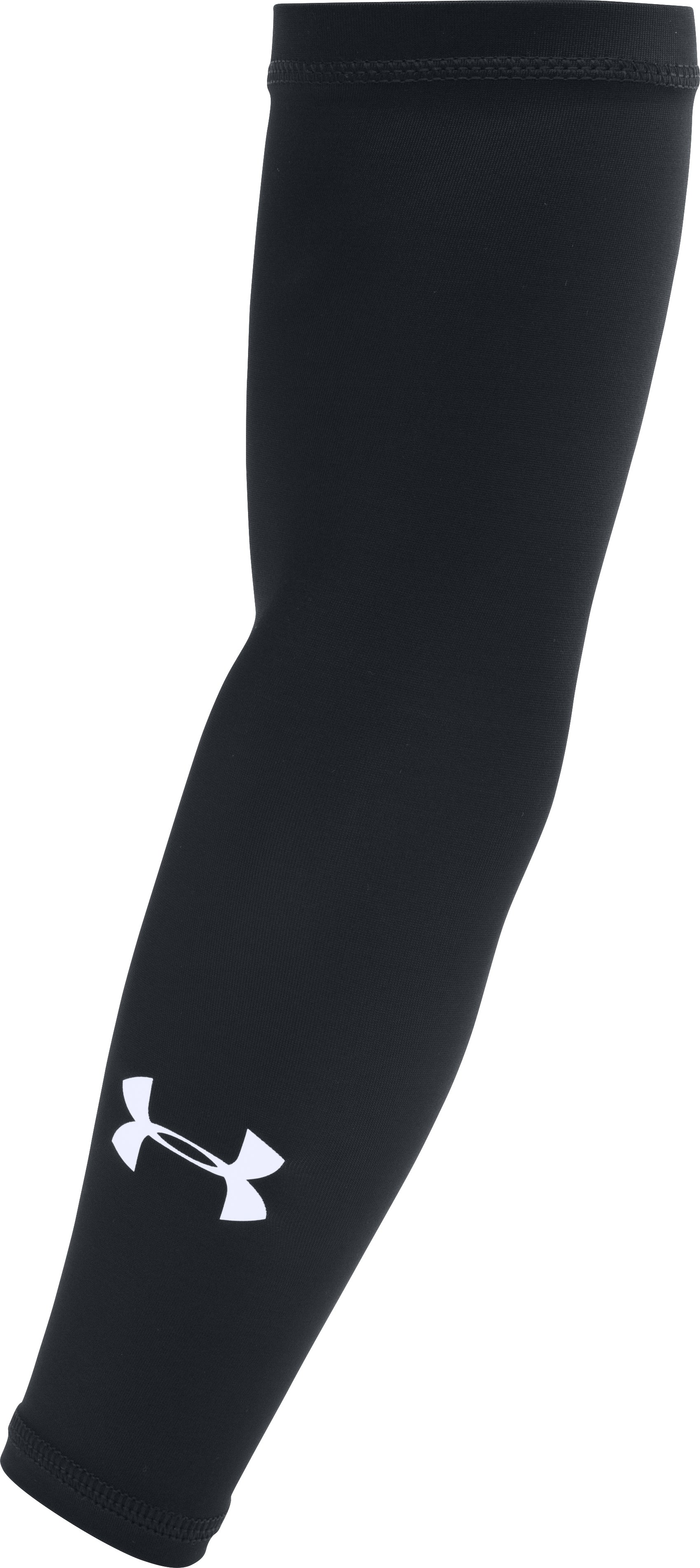"running arm sleeves Boy's UA Basic Arm Sleeve 4-Way Stretch fabrication is very Compression allows greater mobility in any direction    Moisture Transport System.Tthe Length of it (13"") is very suitable for little guy....But HeatGear fabric is very comfortable enough to be worn all day."