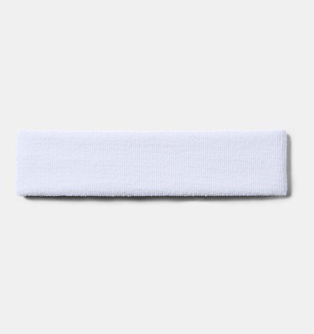 Pánská UA Performance Headband, bílá, bílá, Kliknutím zobrazíte obrázek v plné velikosti