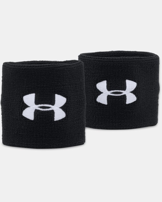 "Men's UA 3"" Performance Wristband - 2-Pack, Black, pdpMainDesktop image number 0"