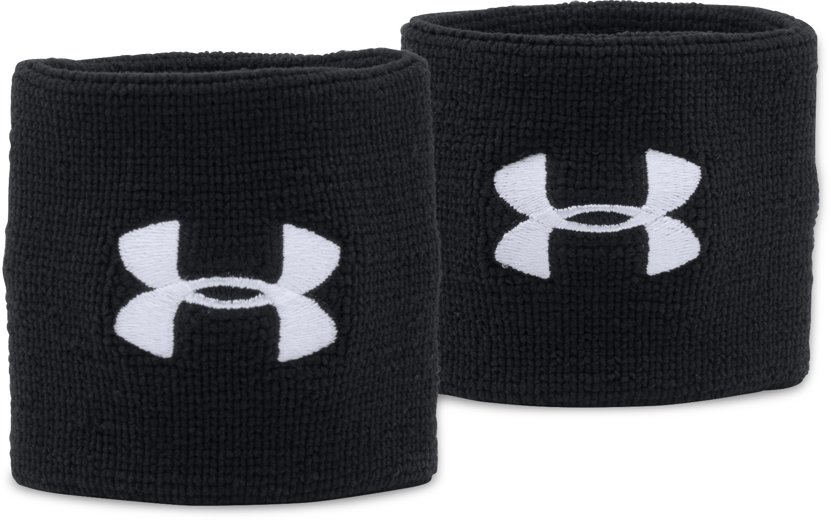 "Men's UA 3"" Performance Wristband – 2-Pack, Black ,"