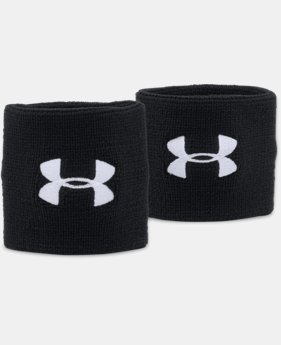 "Best Seller Men's UA 3"" Performance Wristband – 2-Pack  6  Colors $6.99"