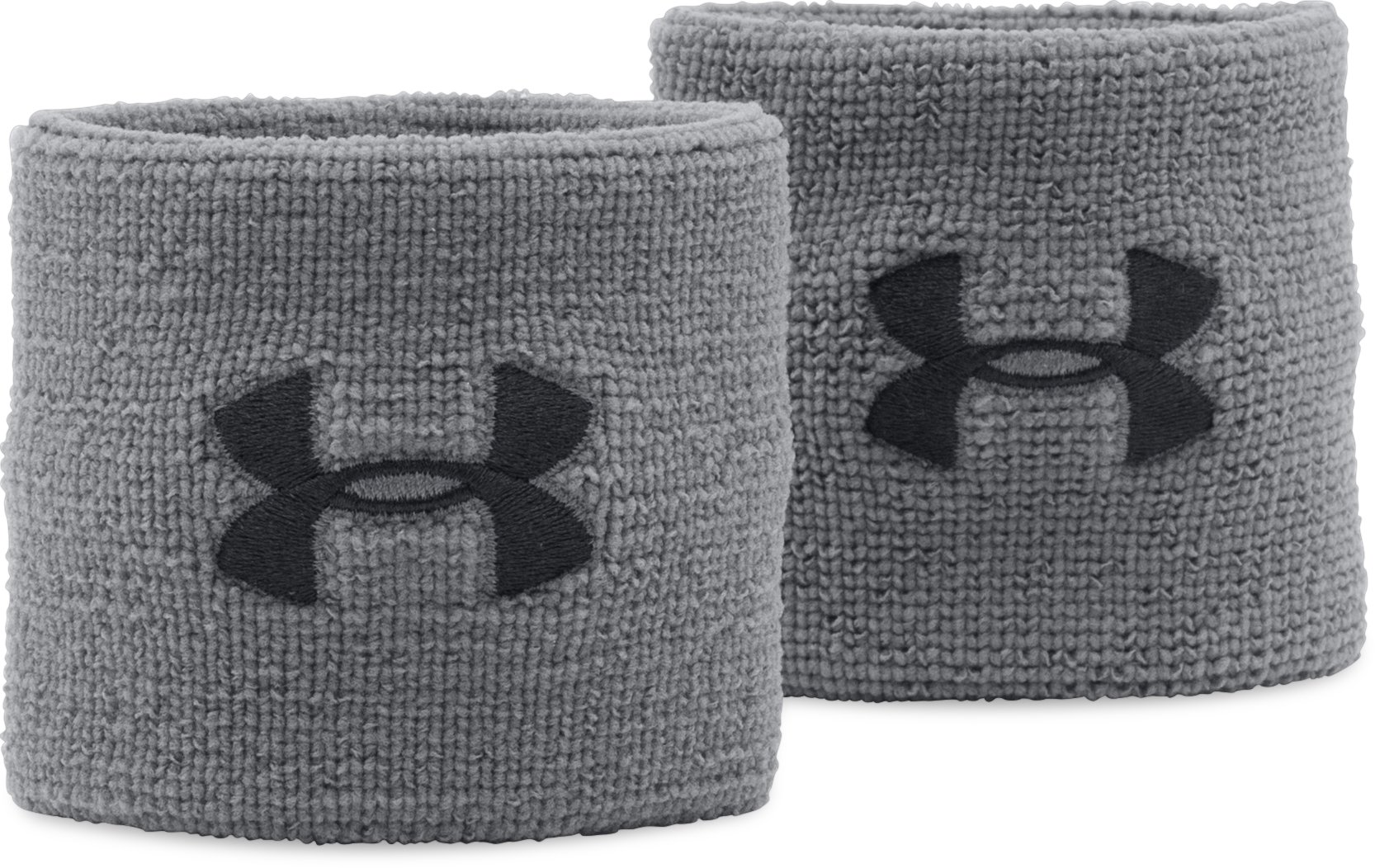 "Men's UA 3"" Performance Wristband – 2-Pack, Graphite,"