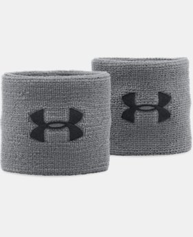 "Best Seller Men's UA 3"" Performance Wristband – 2-Pack  2  Colors Available $6.99"