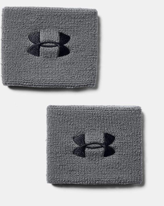 "Men's UA 3"" Performance Wristband - 2-Pack, Gray, pdpMainDesktop image number 1"