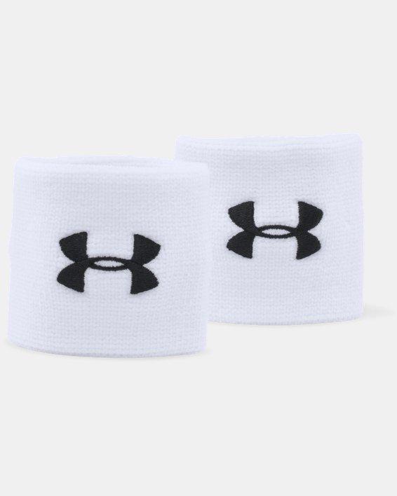 "Men's UA 3"" Performance Wristband - 2-Pack, White, pdpMainDesktop image number 2"