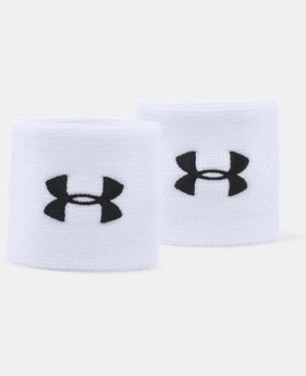 "Best Seller Men's UA 3"" Performance Wristband – 2-Pack  1 Color $6.99"