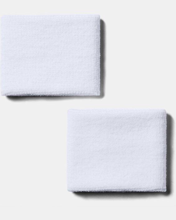 "Men's UA 3"" Performance Wristband - 2-Pack, White, pdpMainDesktop image number 1"