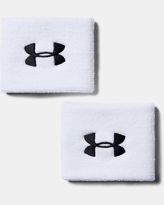 "Men's UA 3"" Performance Wristband - 2-Pack, White, pdpMainDesktop image number 0"