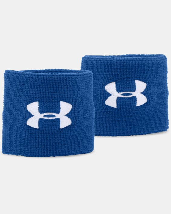 "Men's UA 3"" Performance Wristband - 2-Pack, Blue, pdpMainDesktop image number 0"