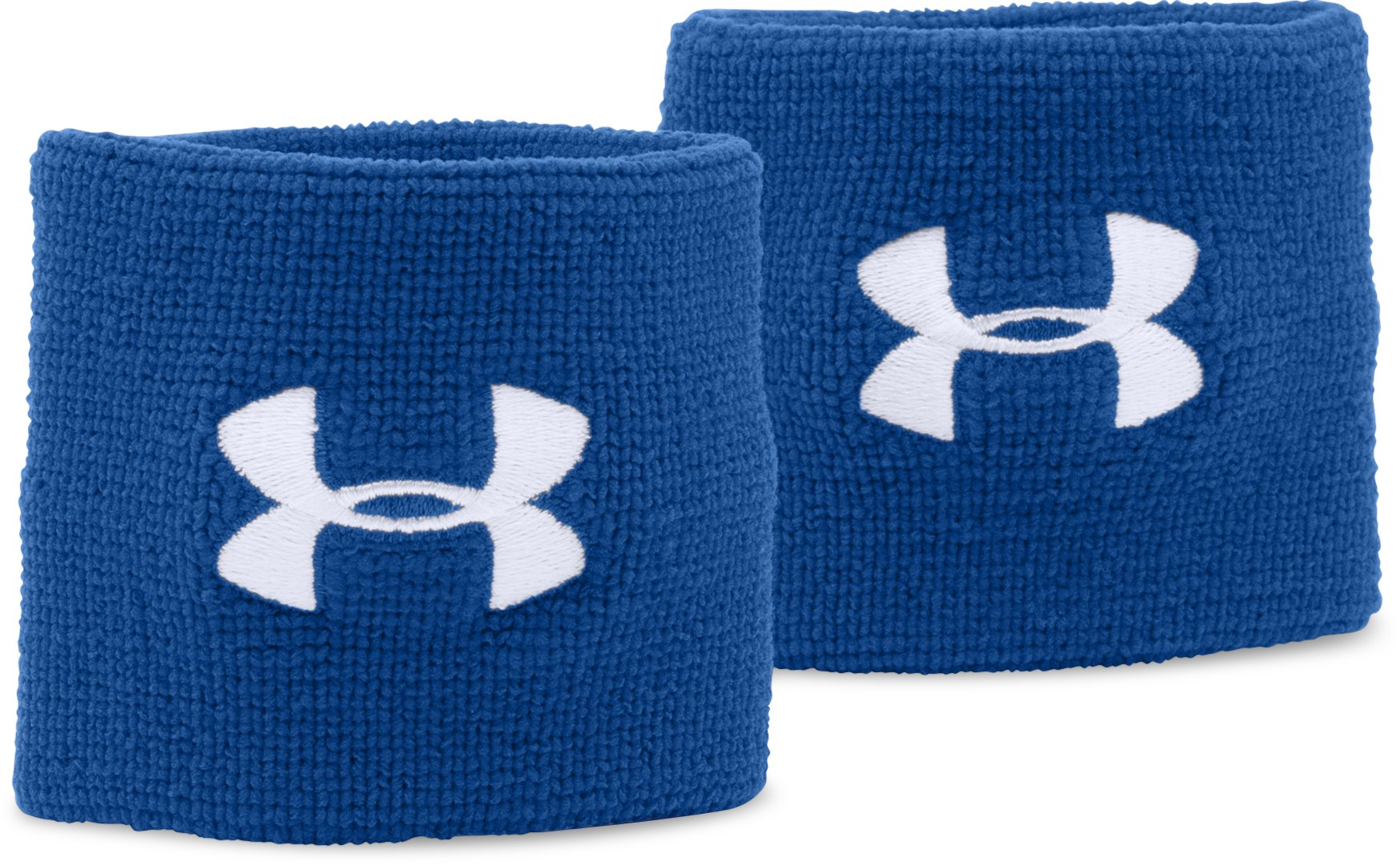 "Men's UA 3"" Performance Wristband – 2-Pack, Royal, zoomed image"