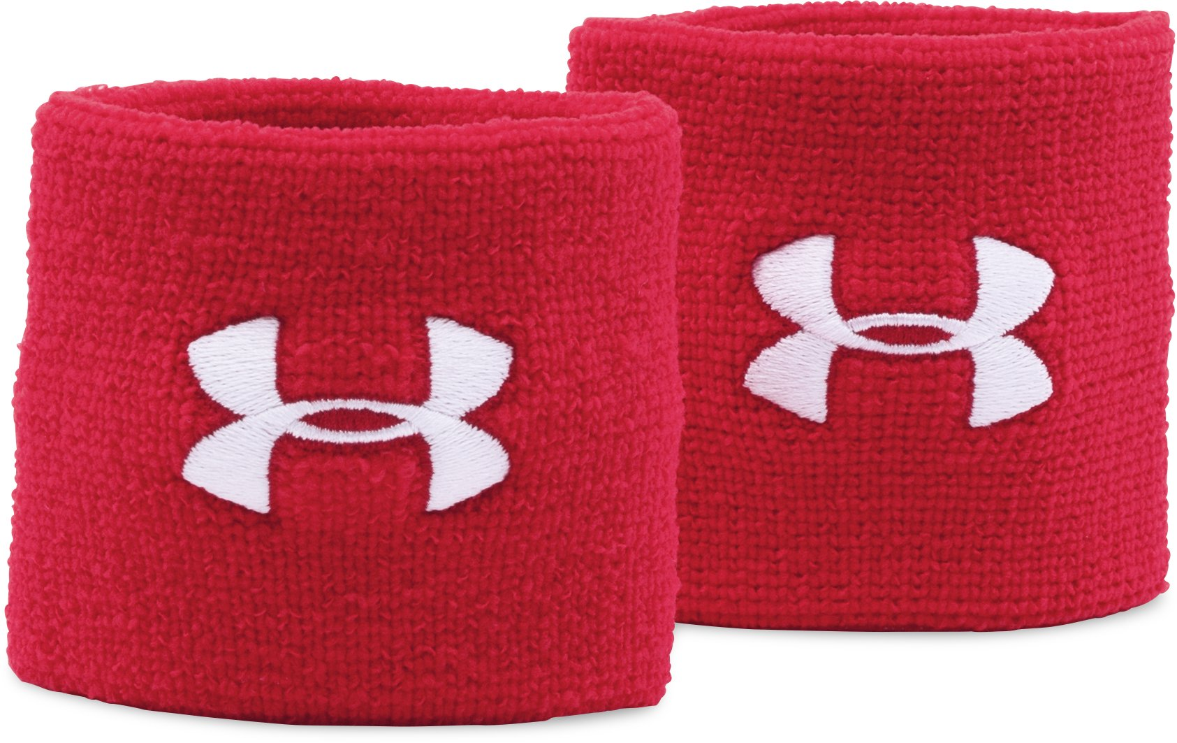 "Men's UA 3"" Performance Wristbands, Red, zoomed image"