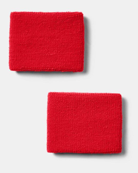 "Men's UA 3"" Performance Wristband - 2-Pack, Red, pdpMainDesktop image number 2"