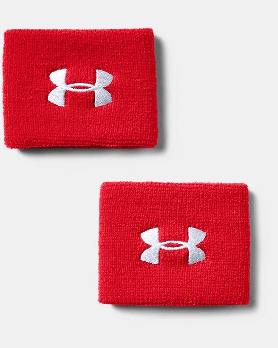 "Men's UA 3"" Performance Wristband - 2-Pack, Red, pdpMainDesktop image number 1"