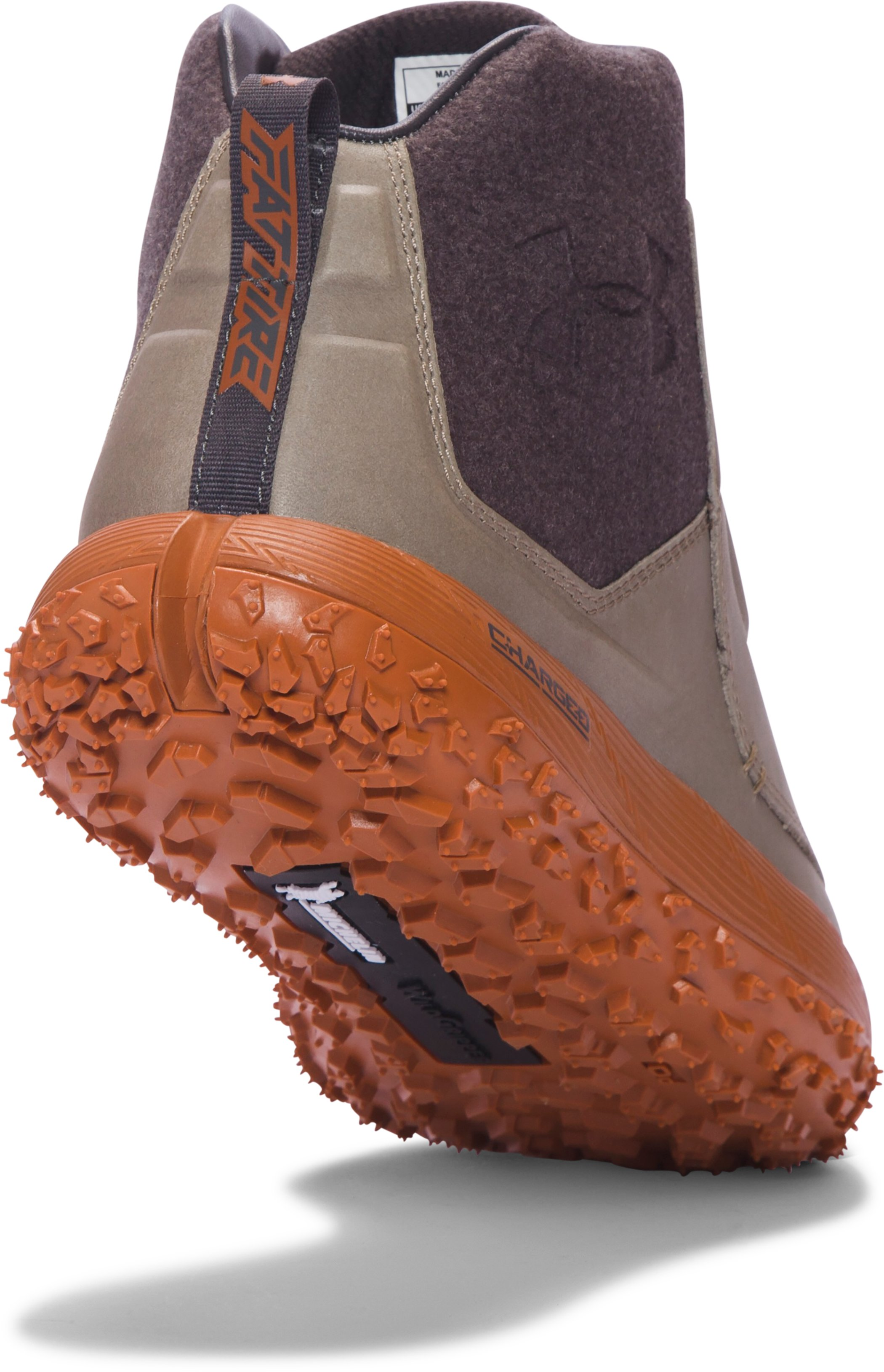 Men's UA Fat Tire Leather Hiking Boots, Dune,