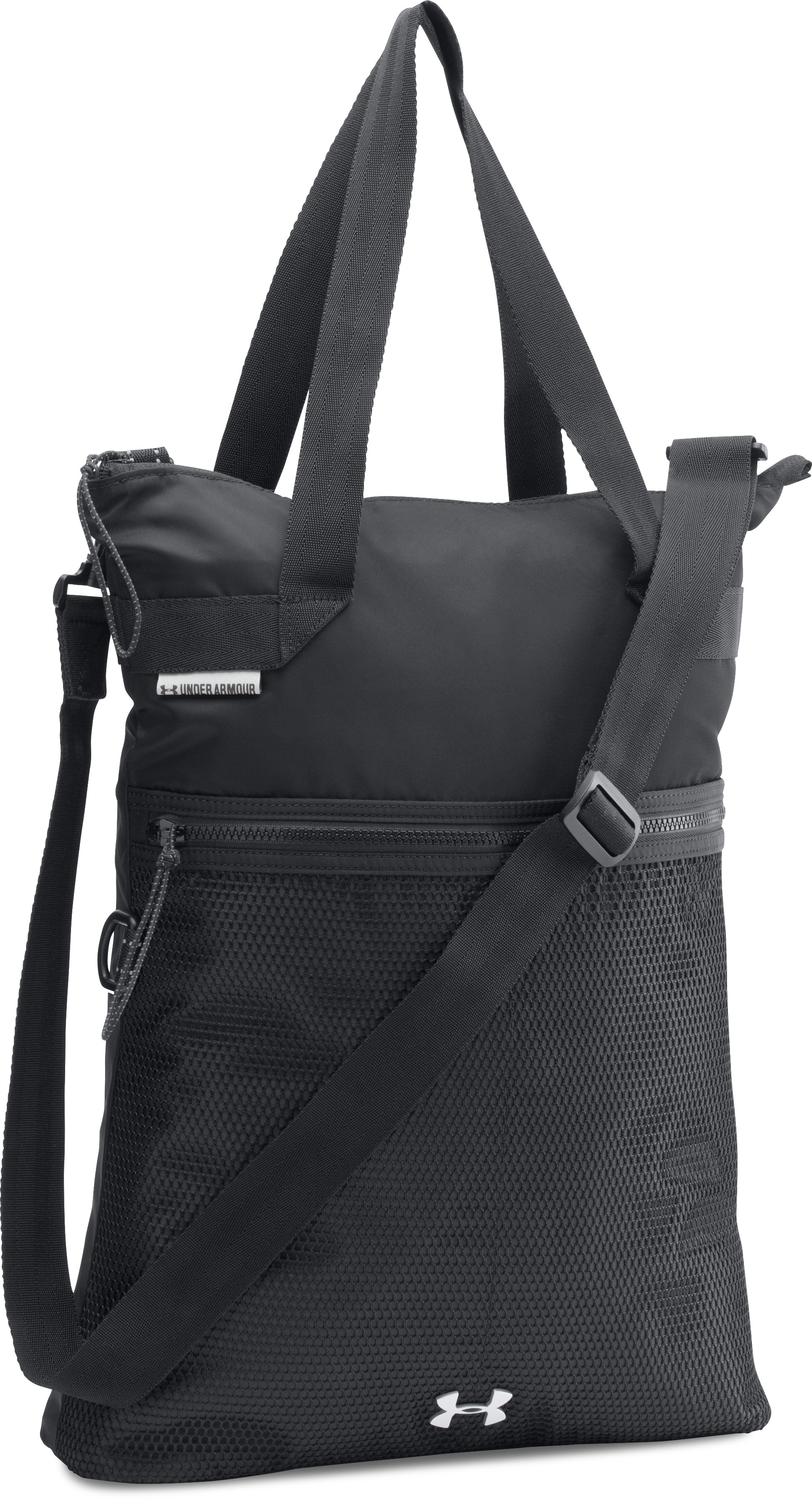 women totes Women's UA Multi-Tasker Tote It's functional while still being stylish and isn't bulky....The shoulder strap is great - it can be removed or tucked inside when not needed....bag is great for carrying your computer around.