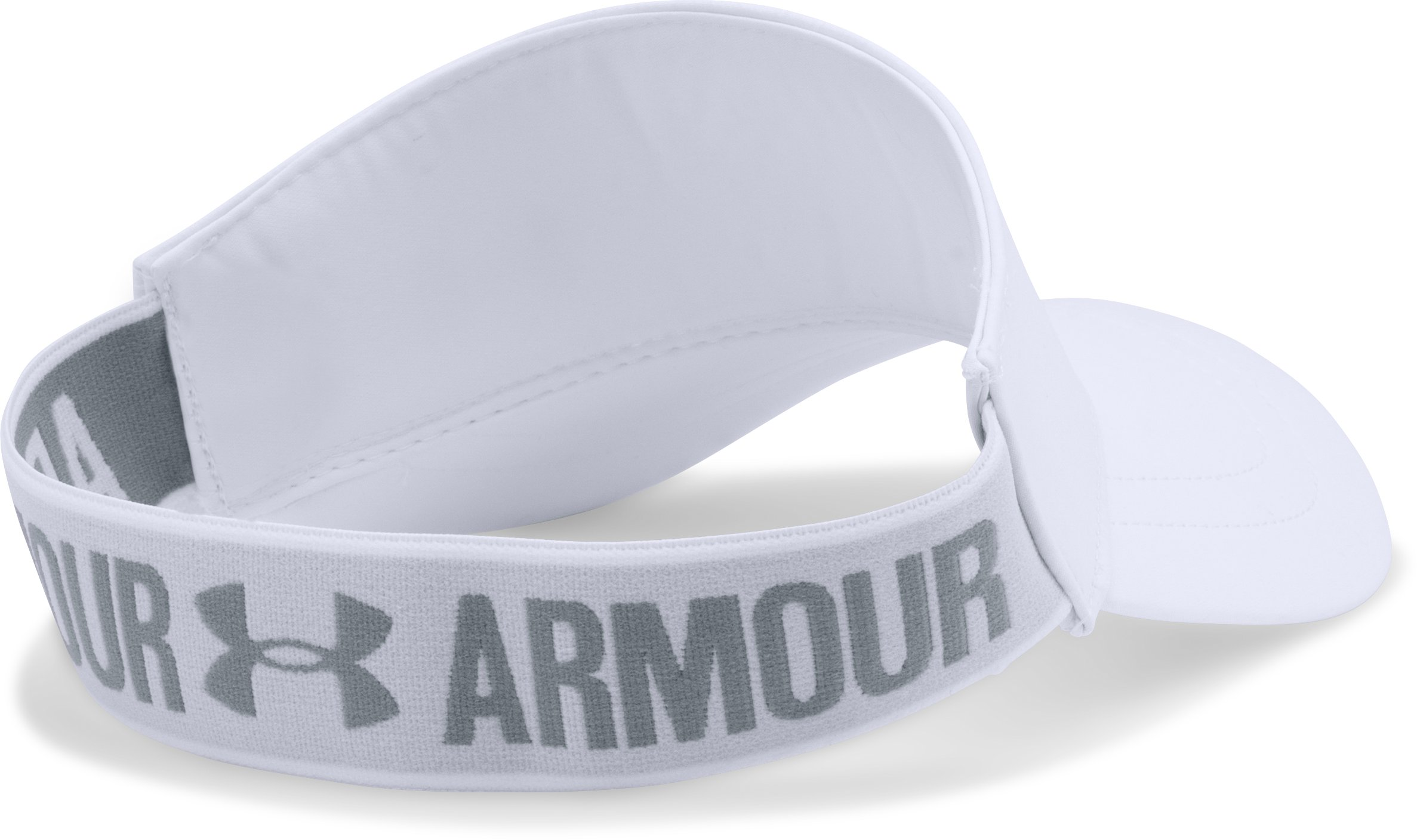 Women's UA Armour Visor, White, undefined
