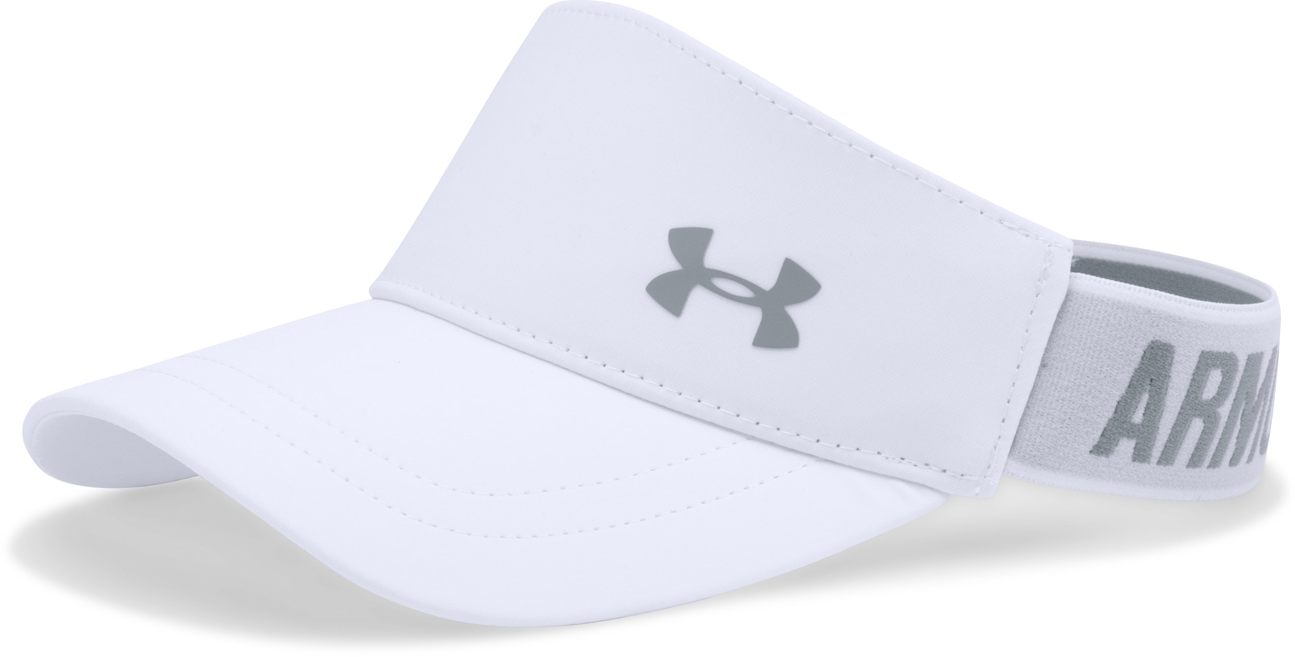Women's UA Armour Visor, White