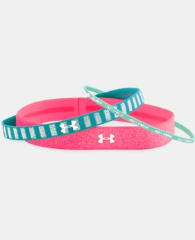 Girls' UA Lurex Headbands - 3 Pack   $8.99