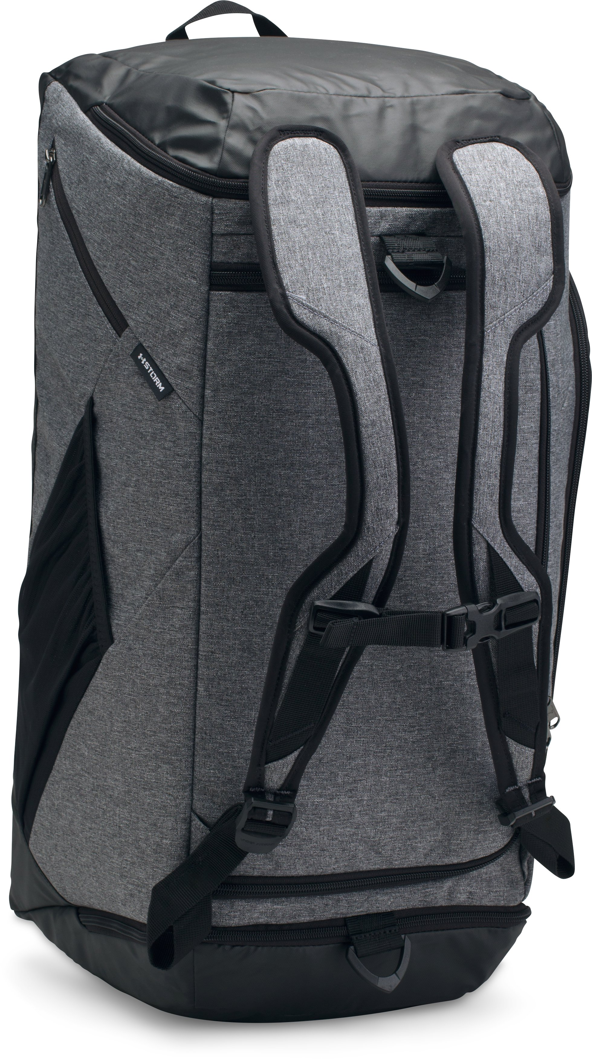 UA Storm Contain Backpack Duffle 3.0, GRAPHITE MEDIUM HEATHER
