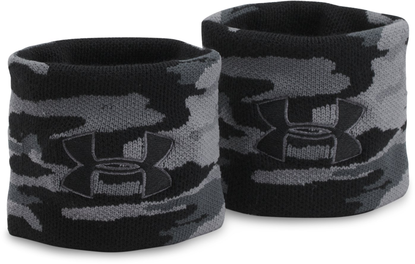 UA Jacquarded Wristbands, Graphite, undefined