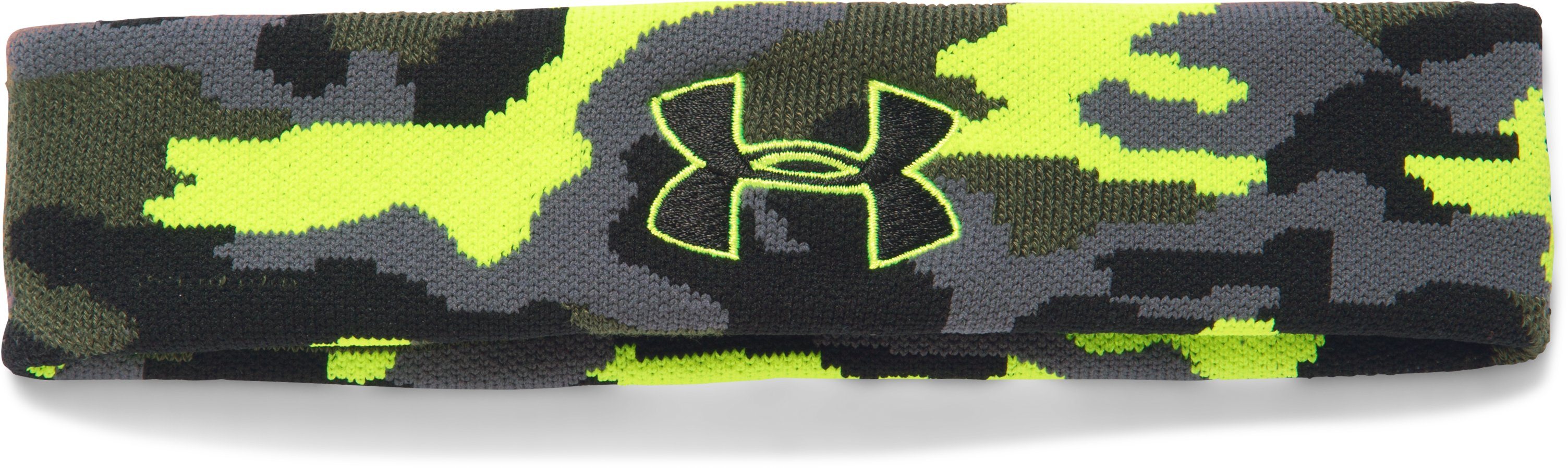 UA Jacquard Headband, Rough, zoomed image