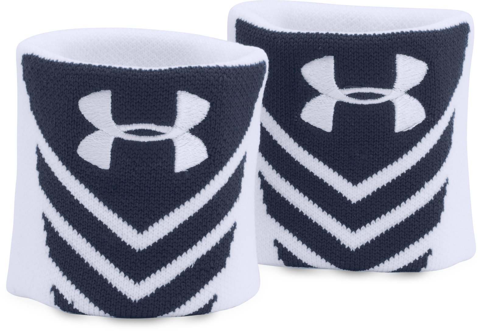 UA Undeniable Jacquarded Wristbands, Midnight Navy,