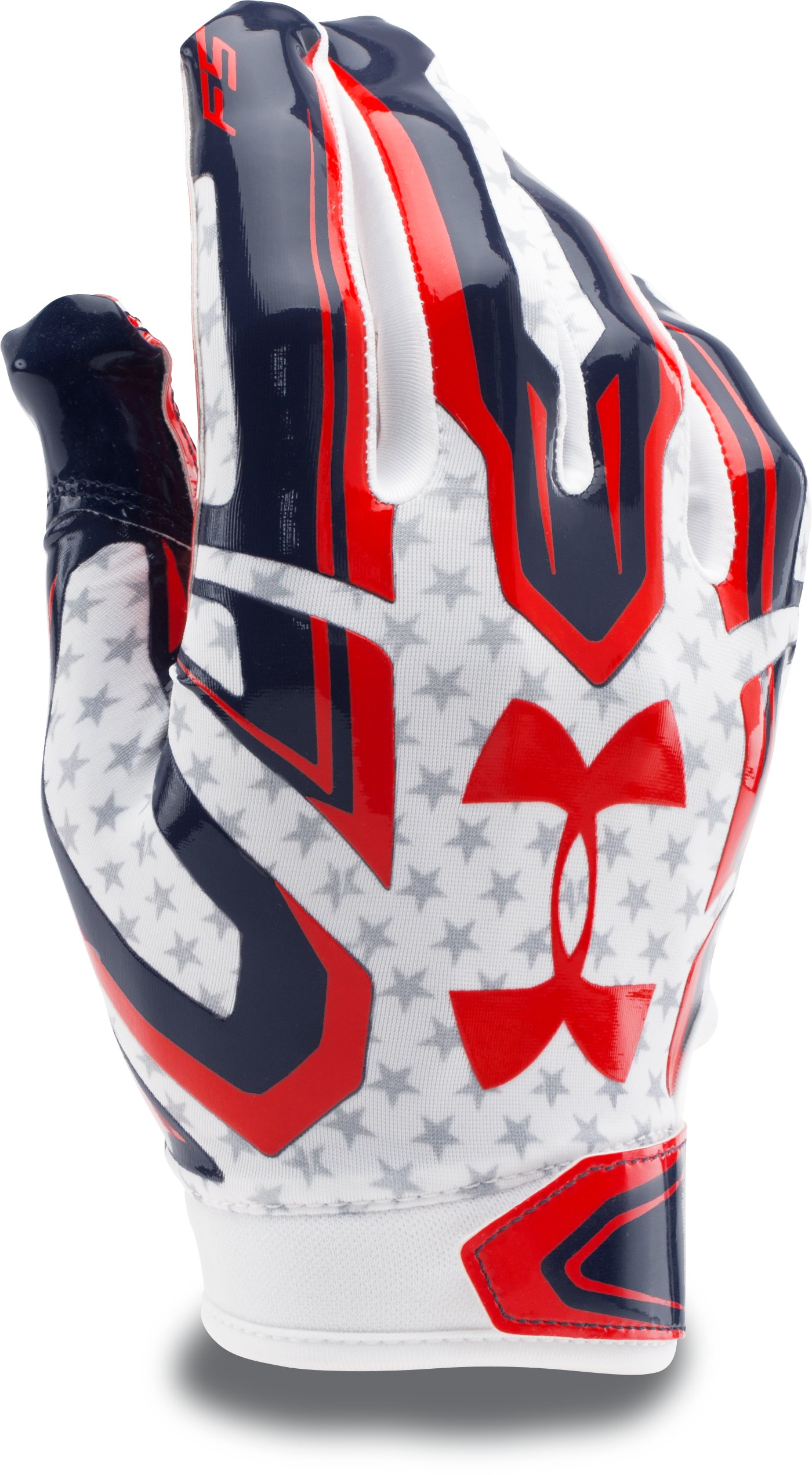 Men's UA F5 Graphic Football Gloves, White