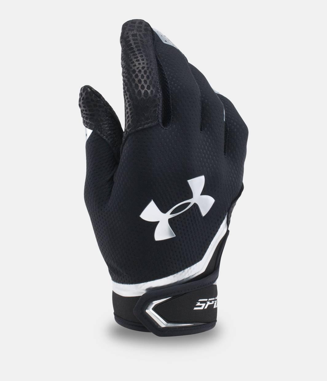 Black batting gloves - Men S Ua Spotlight Chrome Batting Gloves Black Zoomed Image
