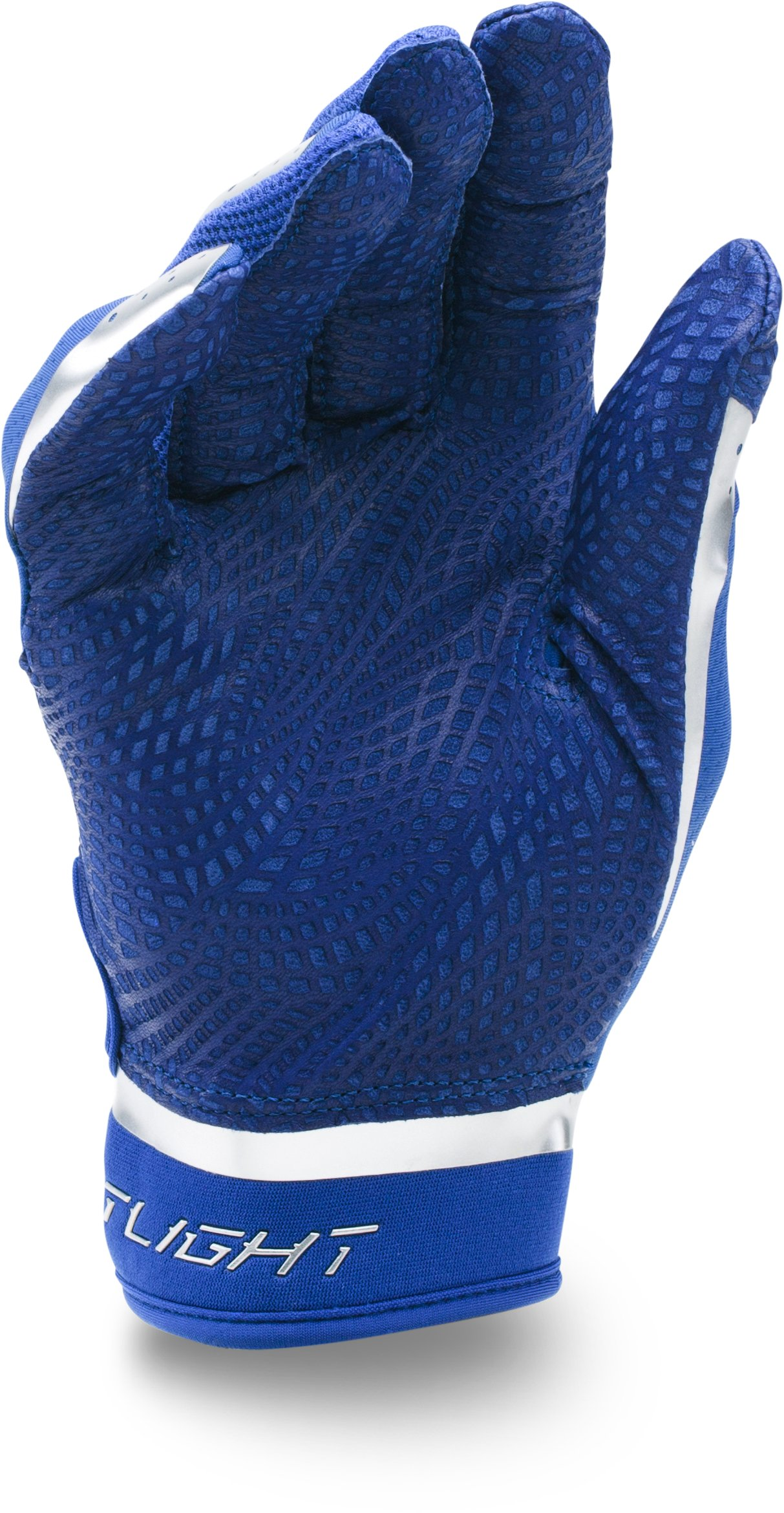 Men's UA Spotlight Chrome Batting Gloves, Royal,