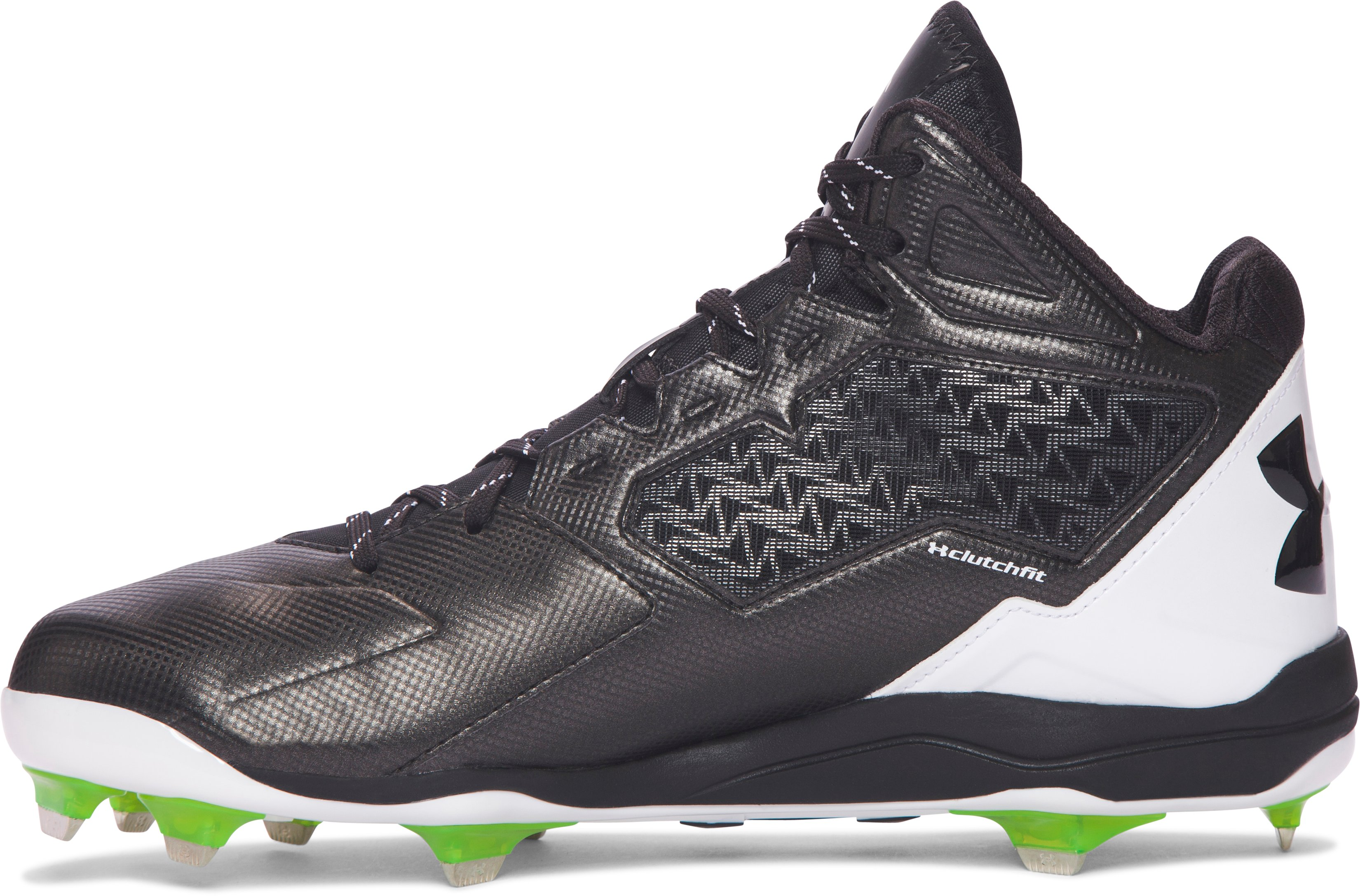 Men's UA Deception Mid DT Baseball Cleats, Black
