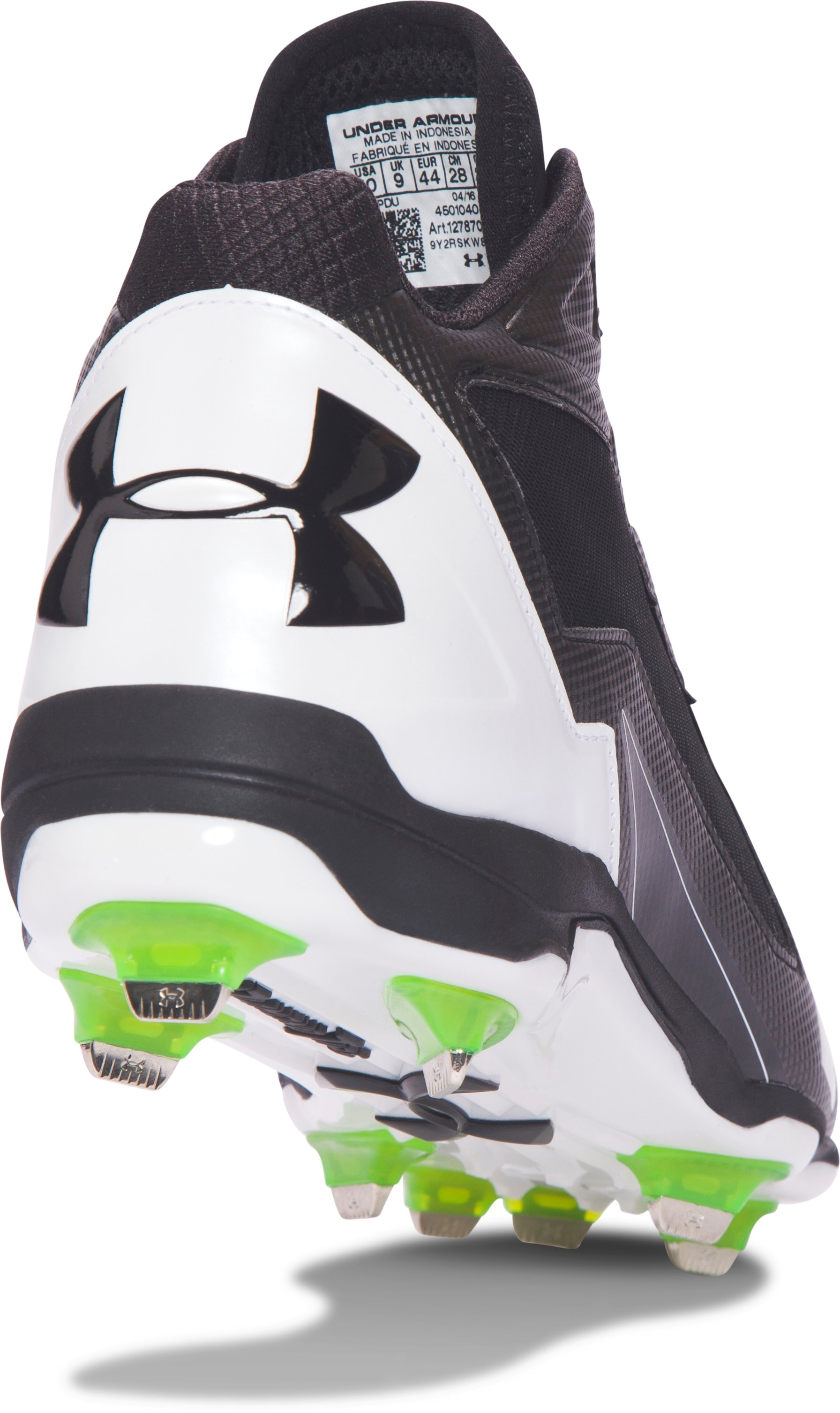 Men's UA Deception Mid DT Baseball Cleats, Black ,