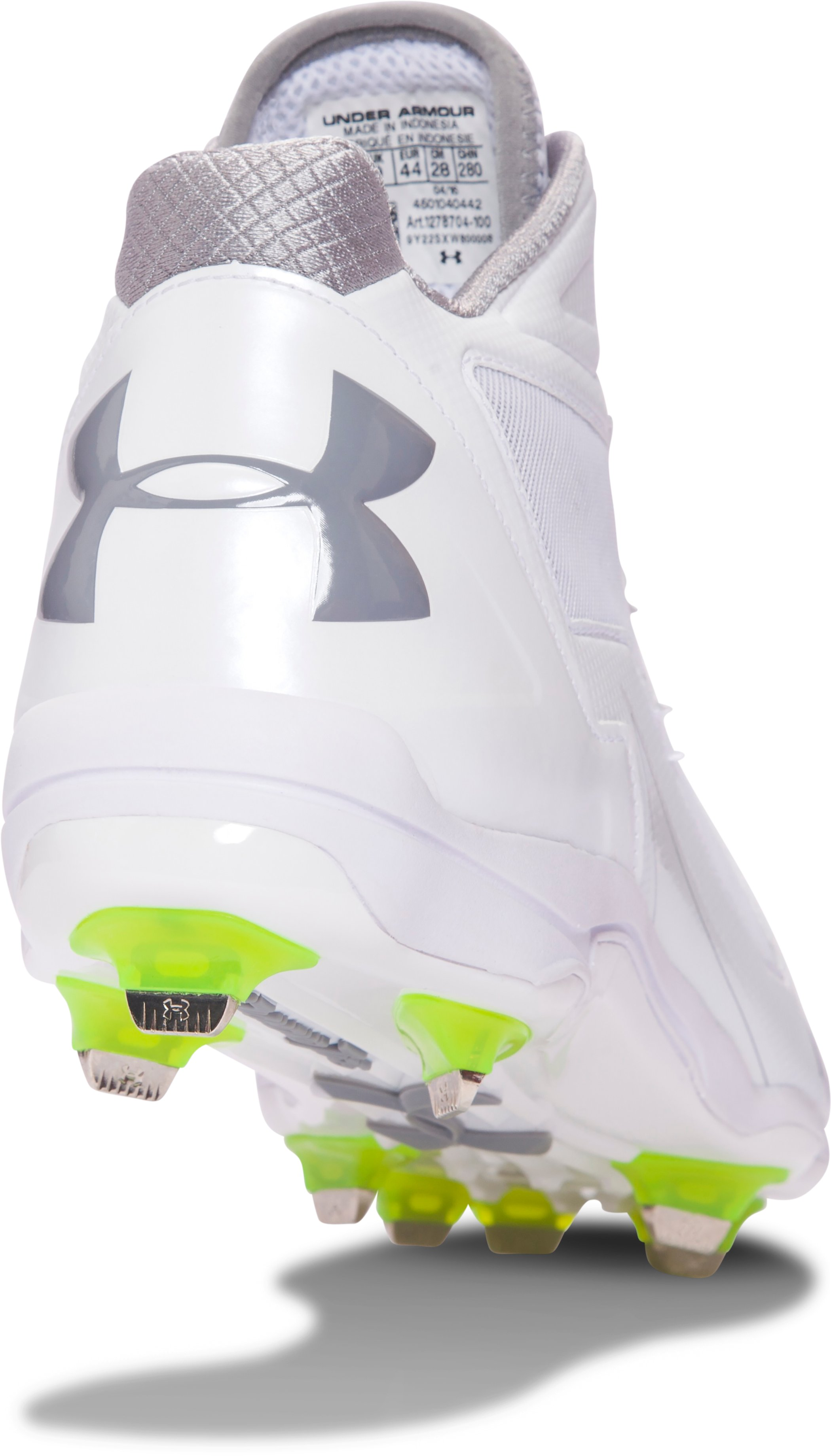 Men's UA Deception Mid DT Baseball Cleats, White, undefined