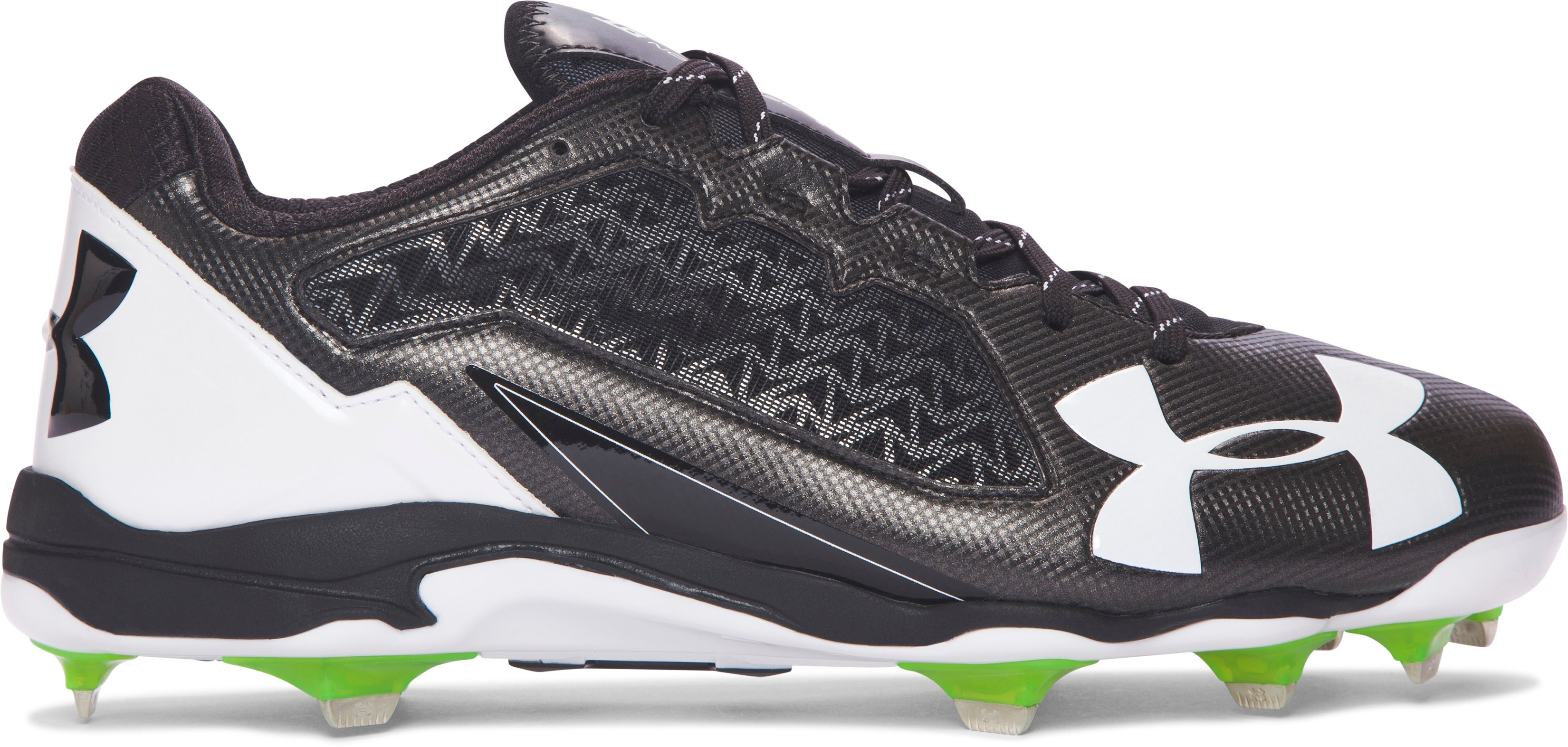 Men's UA Deception Low DiamondTips Baseball Cleats, Black ,