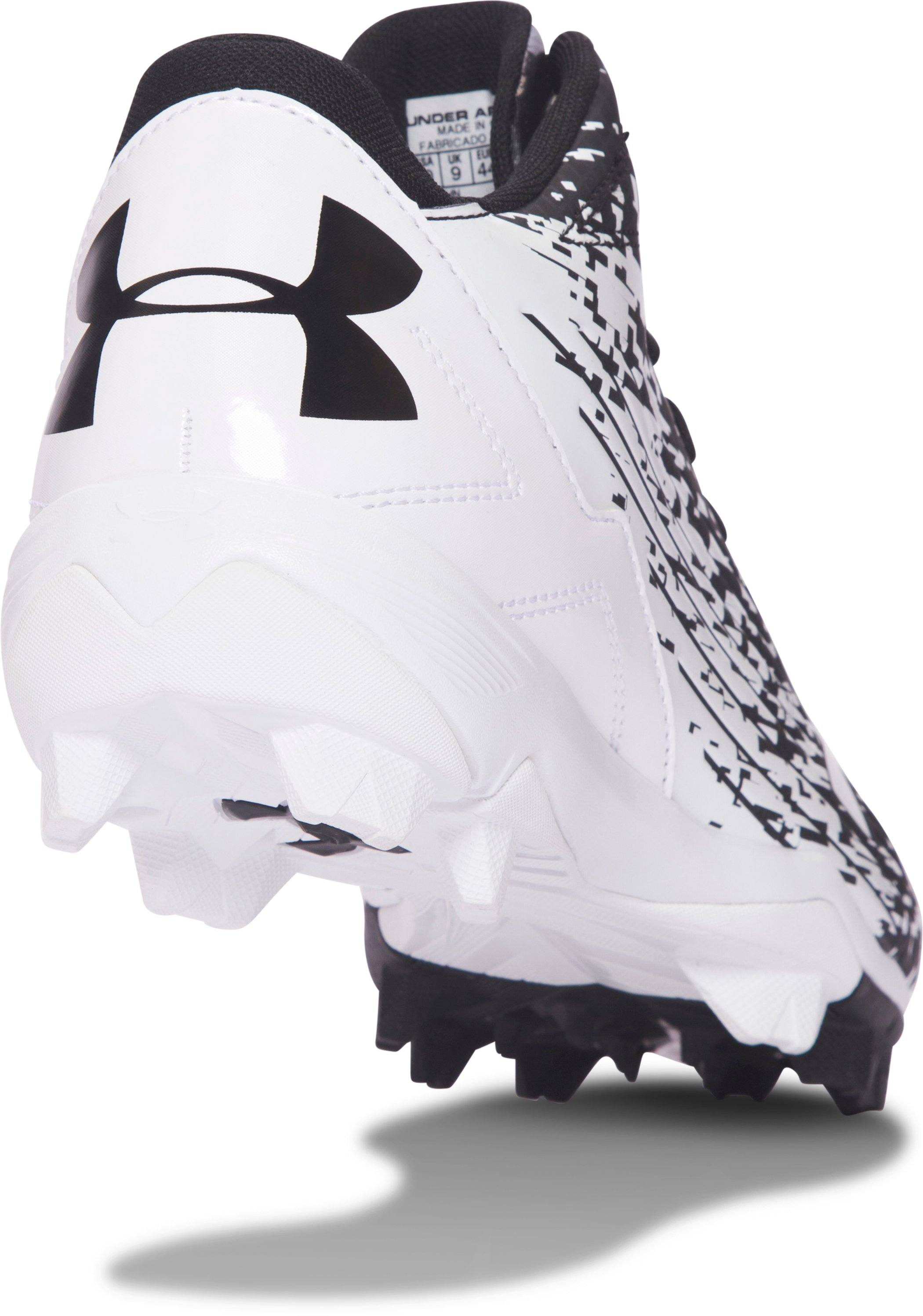 Men's UA Leadoff Mid RM Baseball Cleats, Black ,