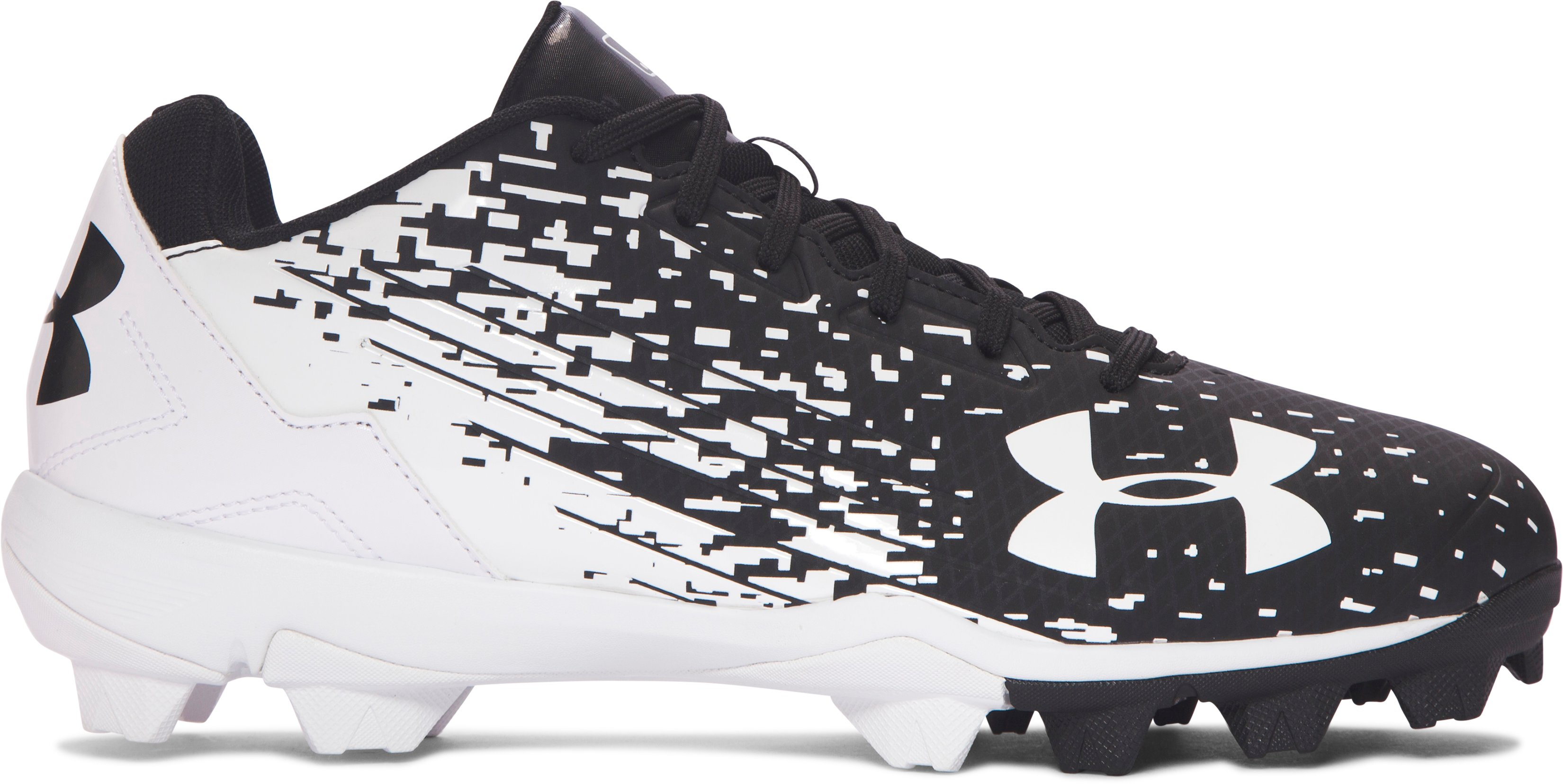 Men's UA Leadoff Low RM Baseball Cleats, Black , zoomed image