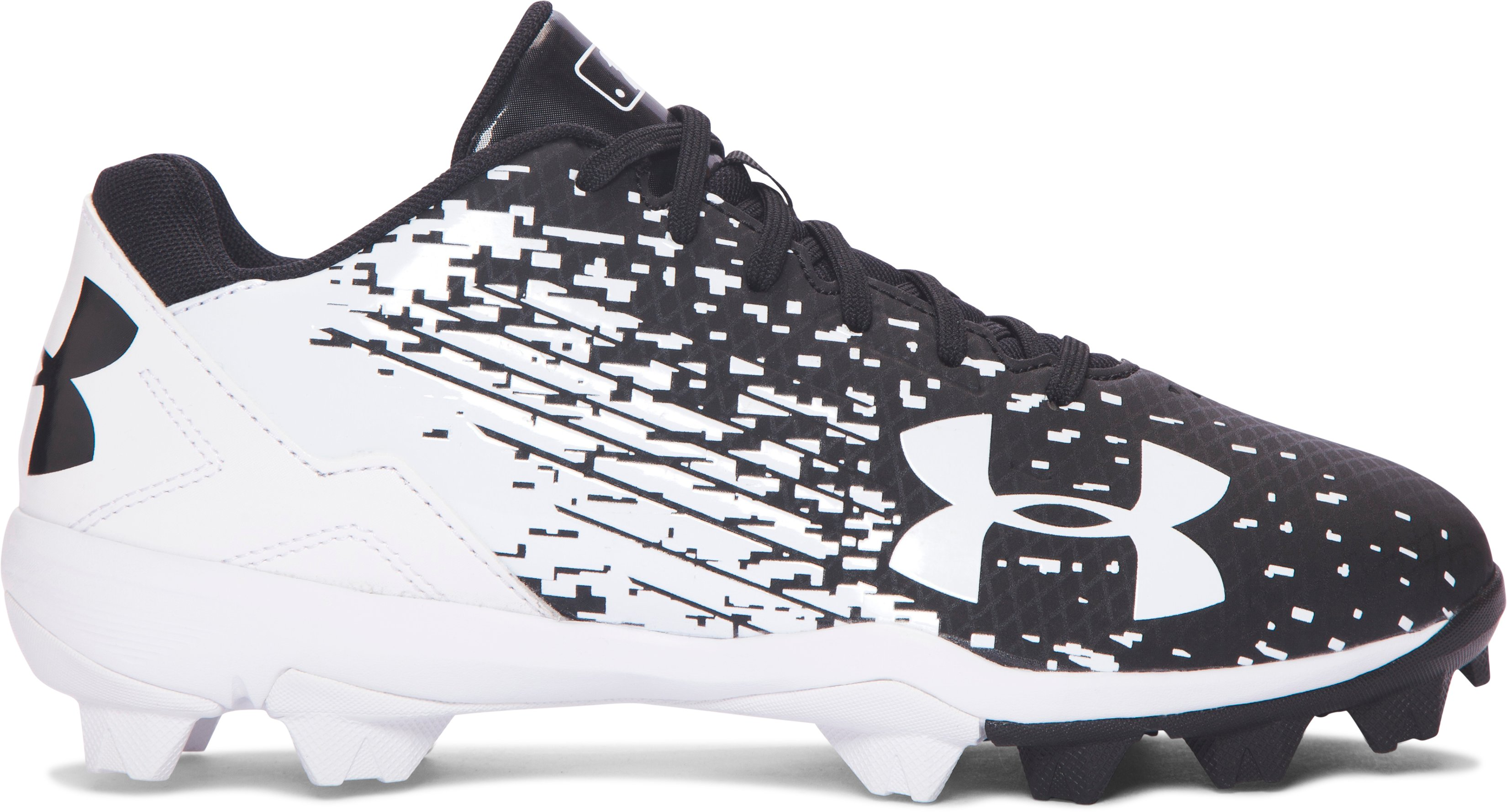 Boys' UA Leadoff Low RM Jr. Baseball Cleats, Black ,