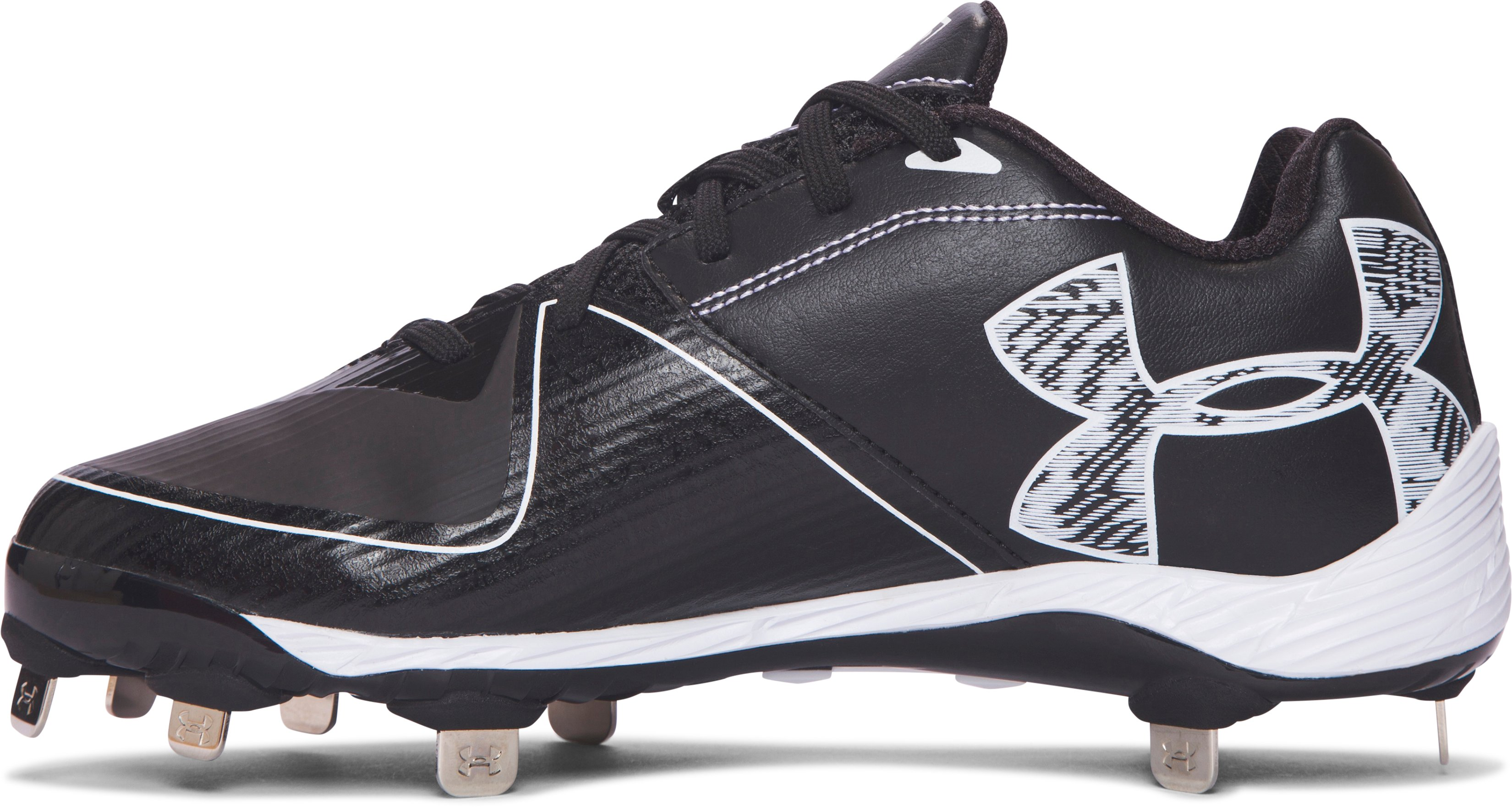 Women's UA Glyde 2.0 ST Softball Cleats, Black ,